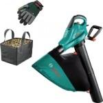 Садовый пылесос Bosch ALS 25+ сумка и перчатки