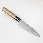 Нож кухонный 120 мм, Дамасская сталь, Aogami steel #2, HANAKUMAGAWA